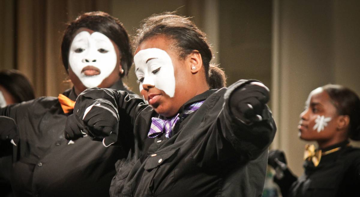 VisionQuest Mimes Preforming in Lawless Memorial Chaple