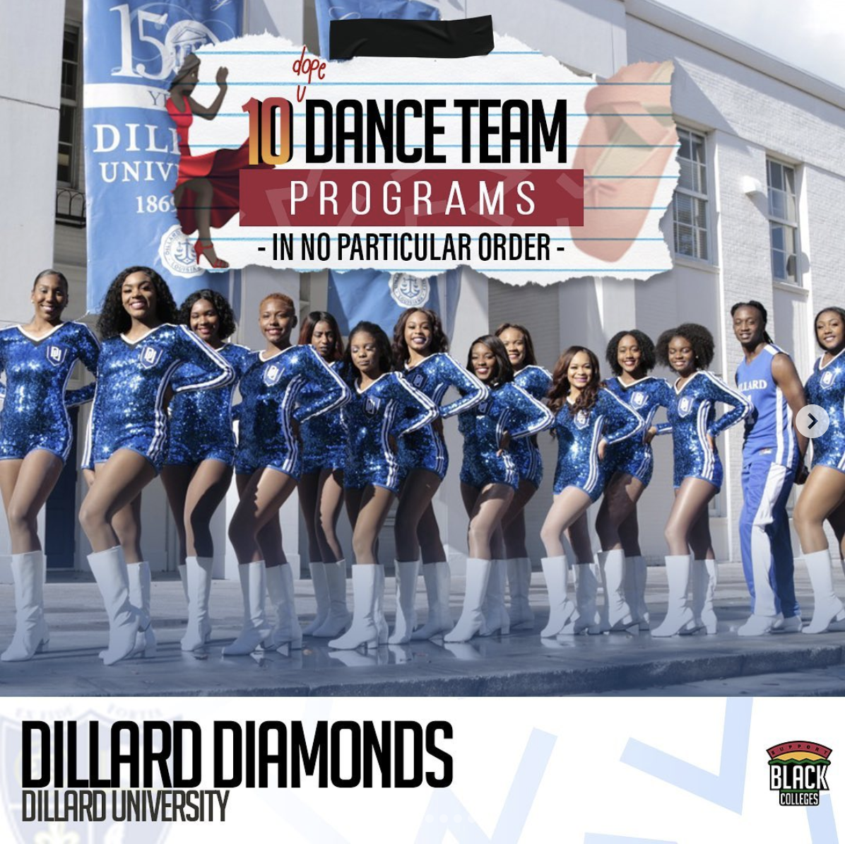 The Dillard University Diamonds Dance Team