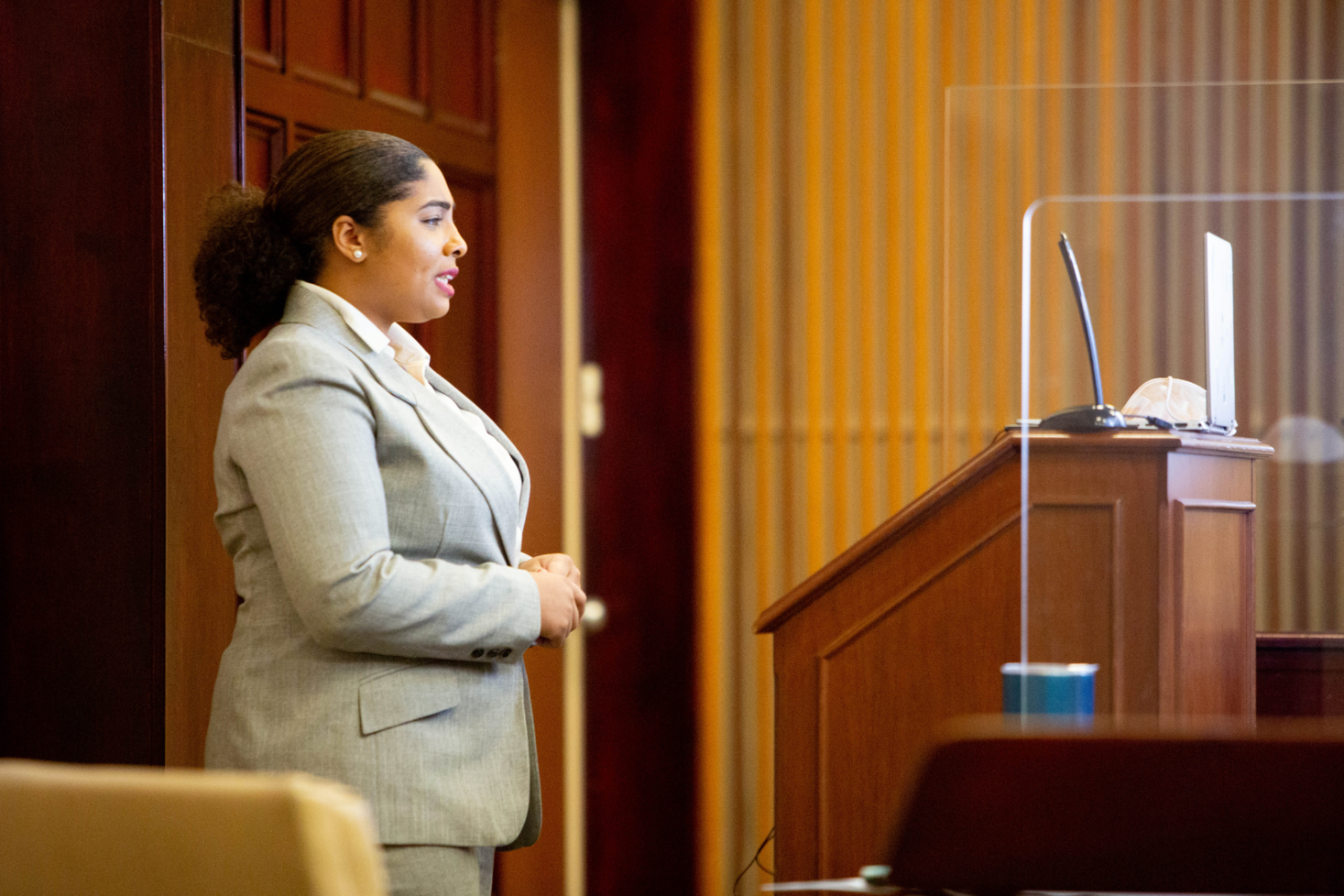 Dillard University Mock Trial Team Member Renee Simien